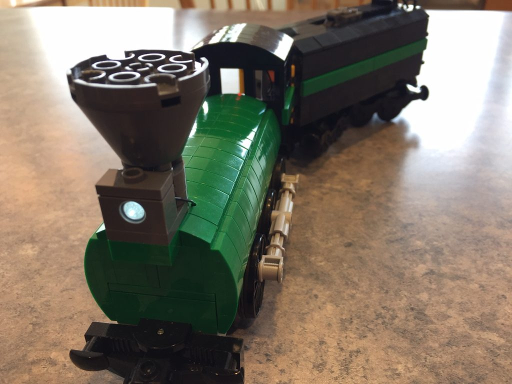 Green Steam Locomotive