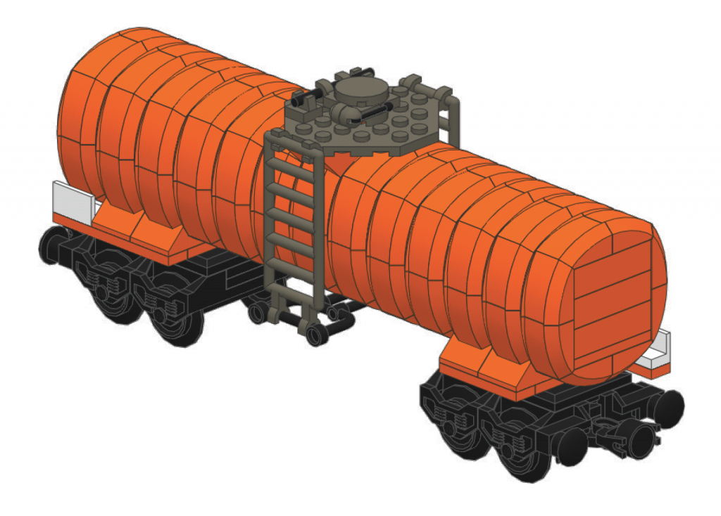 Anthony Sava's LEGO Corrugated Tank Car Design